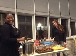 RAがクリスマスパーティーの時に手料理を振る舞ってくれました