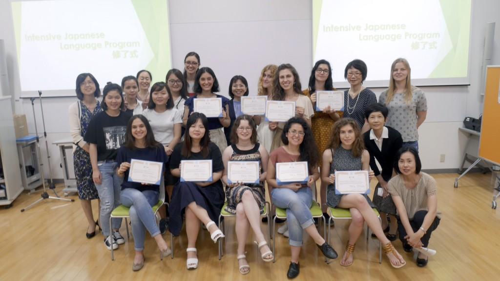 2017年度前期Intensive Japanese Language Program修了式