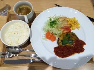 イタリアンハンバーグ(ライス・サラダ付)800円