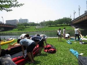 水上を満喫した後は、まずはボートの片付け。