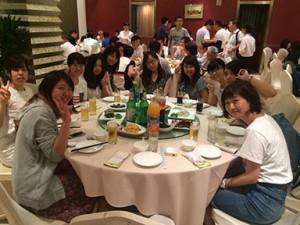 編集後昭和女子の学生で食事会