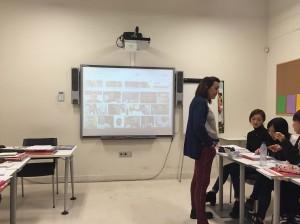 スペインでの授業の様子