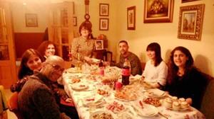 クリスマスの夕食風景