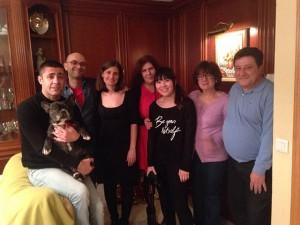 大晦日に撮った親戚と家族との写真