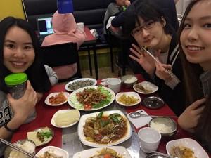 台湾人の友人との楽しい食事