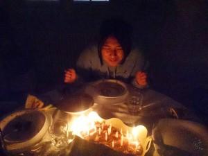 誕生日のサプライズケーキ!