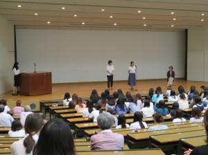 スペイン・アルカラ大学留学者によるスピーチ