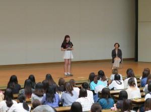 韓国・淑明女子大学留学者によるスピーチ