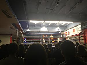 兄のボクシングの試合