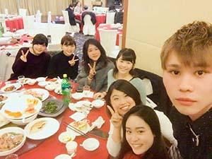 留学生会主催の晚会