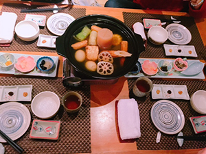 元旦に食べた日本料理屋のおでん