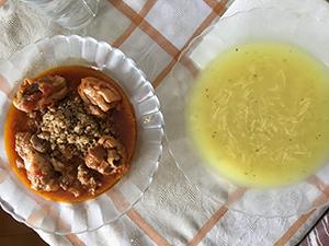 ホストマザーの手料理