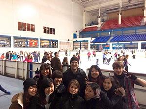 インテルカンビオ(言語交換)のメンバーでスケート
