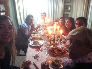 ホストファミリーとのクリスマスディナー