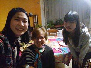 ママと韓国の学生との年越し