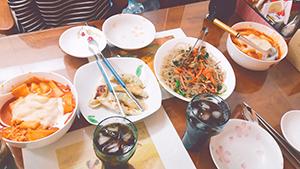 授業で仲良くなった韓国人のお姉さんが作ってくれた料理