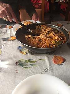 普段の食事、paella