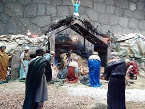 イエス・キリストの誕生のシーンを再現