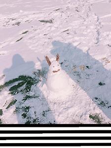 雪が積もった国民大学はとっても綺麗でした!