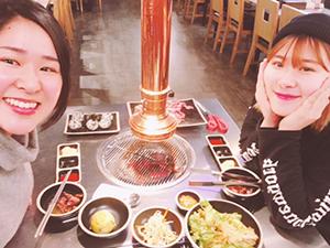 韓国人の友人と1対1の食事に