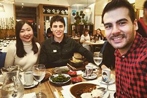 スペイン人の友達とマドリッドに日本食を食べに