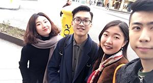 中国人の趣味の合う友達とセラーノ通りでショッピング