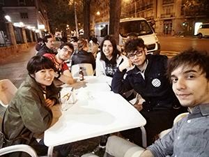 スペイン人の友人との食事会