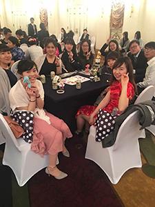日本人と中国人でグループになり、ゲームで交流しました