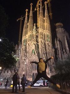 バルセロナのサグラダファミリアにて