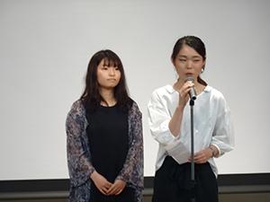 上海交通大学留学者によるスピーチ