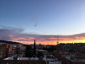 家から撮影した最後の夕日