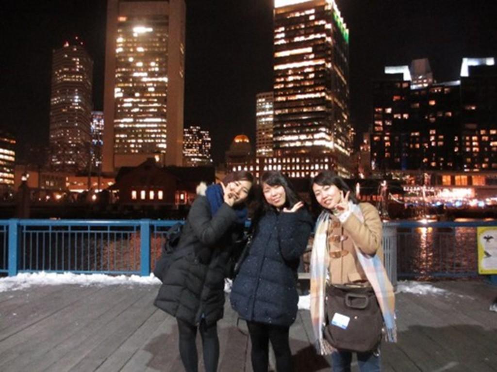Boston Children`s  Museumからみたボストンの夜景
