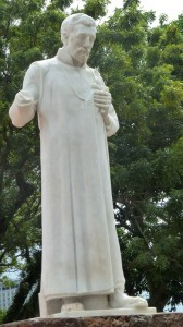 セントポールの丘のフランシスコ・ザビエル像